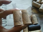 Glue your corks together in sets of 2. You can use any glue you like, I used tacky glue, but a hot glue gun would work too.