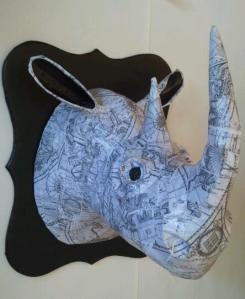 Paper Mache in Vintage Map