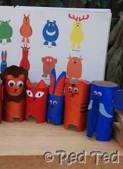 Paper Roll Zoo