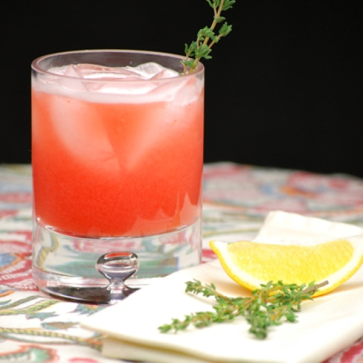 Strawberry Thyme Cocktail