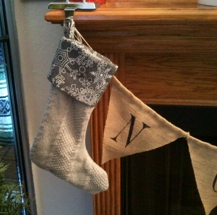 Re-purposed Sweater Stocking