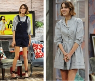 Alexa Chung Grey Dress