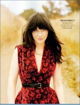Zooey Deschanel Red Dress