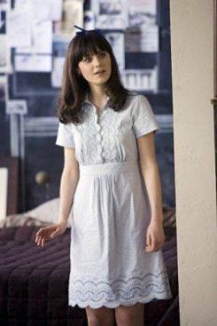 Zooey Deschanel White Dress