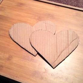 Cut 2 Hearts From Cardboard