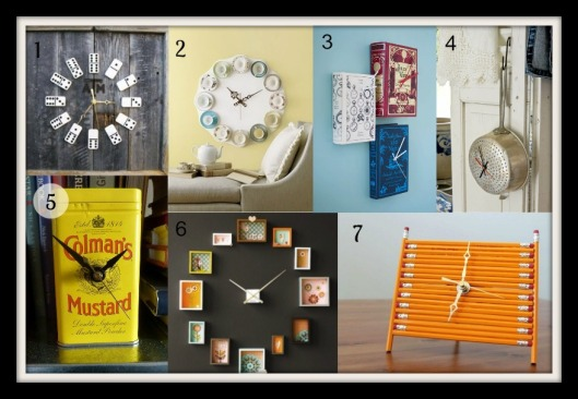 DIY Clock Collage
