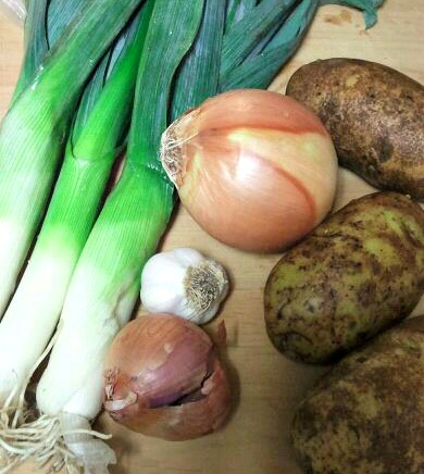 Ingredients for Potato Leek Soup