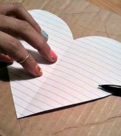 Trace Heart Onto Cardboard