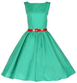 Vintage Audrey Hepburn Style 1950's Rockabilly Swing Dress