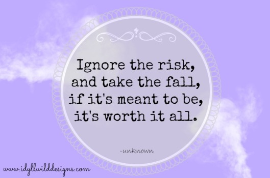 Ignore the risk and take the fall