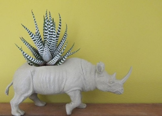 Rhino Toy Planter