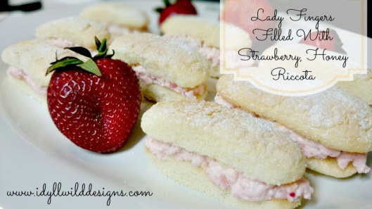 Strawberry Honey Ricotta Lady Fingers